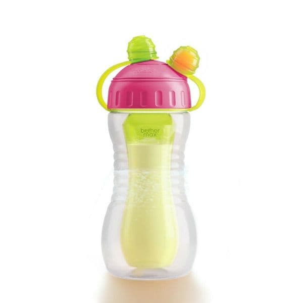 Brother Max - Dual Drink Combination Kids Smart Sports Bottle - Pink/Green